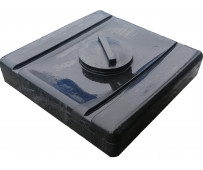 Емкость для душа 100 л черная Гранд Пласт Д-780мм, Ш-765мм, В-210мм (д.г. 240мм)
