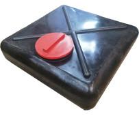 Емкость для душа 110 л черная Гранд Пласт Д-780мм, Ш-765мм, В-210мм (д.г. 285мм)