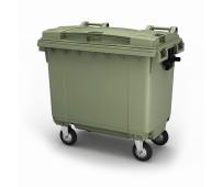 Мусорный контейнер передвижной пластиковый 770л зеленый