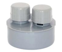 Воздушный клапан D 110 мм, полипропилен серый Flextron