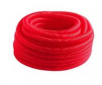 Гофро-рукав (пешель) 24 (50м.бухта) красный