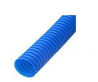 Труба защитная гофрированная для труб 16 мм (синяя) Dn 25 мм (50 м)
