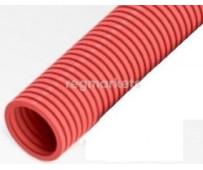 Труба защитная гофрированная для труб 16 мм (красная) Dn 25 мм (50 м)