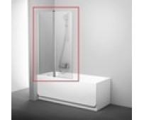 R-110-1 Шторка для ванны Crome 8мм стекло (80*140) распашная REDO (10317120/090221/0014992, Китай)