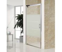 Дверь bifold, стекло Matt csik, профиль хром, 100х185 см