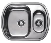 HB S4963 Кухонная мойка полуторка матовая 630х490х180мм