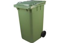 Пластиковый мусорный контейнер с крышкой 2 колеса 120л